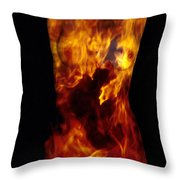 Fire One  Throw Pillow