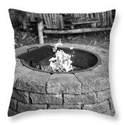 Fire-pit Throw Pillow
