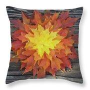Fire - Reynoldstown - Atlanta, Ga Throw Pillow