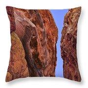 Fire Rocks Throw Pillow