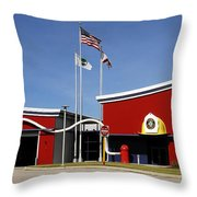 Fire Station Disney Style Throw Pillow