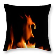 Fire Toon Throw Pillow