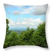 Fire Tower View - Pipestem State Park Throw Pillow