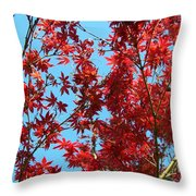 Fire Tree II Throw Pillow