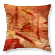 Fire Triangle Throw Pillow
