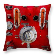 Firetruck Auxiliary Pump Controls Throw Pillow