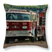 Fire Truck  Engine 13 Village Of Tully New York Pa Throw Pillow