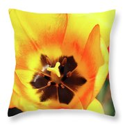 Fire Tulip Throw Pillow