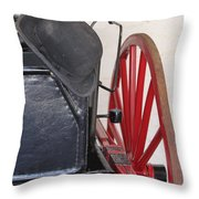 Fire Wagon Throw Pillow