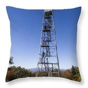 Fire Watch Tower Overlook Mountain Throw Pillow