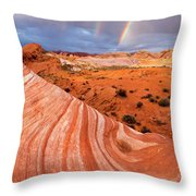 Fire Wave Covenant Throw Pillow