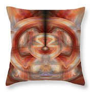 Fire Wheel Throw Pillow