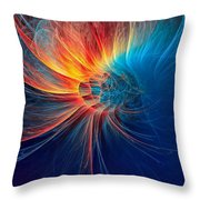 Fire Wind Throw Pillow
