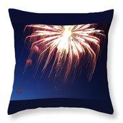 Fire Work Folly Throw Pillow