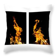 Fire X 6 Throw Pillow