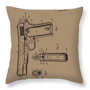 Firearm Handgun Throw Pillow
