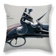 Firearms 1746 British Flintlock Horse Pistol Throw Pillow