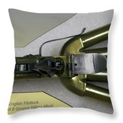 Firearms 1770 English Flintlock Duckfoot Pistol 8 Groove Rifling 46cal Throw Pillow