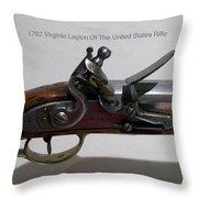 Firearms 1792 Virginia Legion Of The United States Rifle Throw Pillow