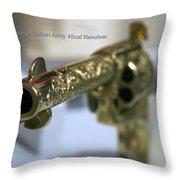 Firearms Gold Colt Single Action Army 45cal Revolver Throw Pillow