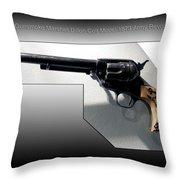 Firearms Tv Gunsmoke Marshall Dillon Colt Model 1873 Army Revolver Throw Pillow