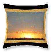 Fireball Sunset Throw Pillow