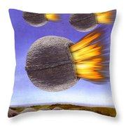 Fireballs Throw Pillow