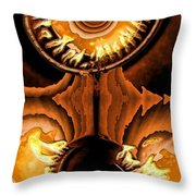 Fired Up Throw Pillow
