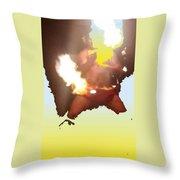 Firedance Throw Pillow