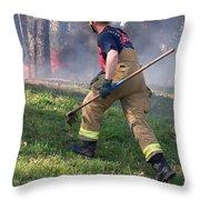 Firefighter 2901 Throw Pillow