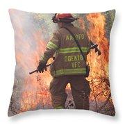 Firefighter 967 Throw Pillow