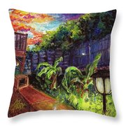 Fireflies In Woodfin Throw Pillow