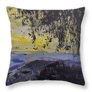 Fireflies Nocturne Throw Pillow