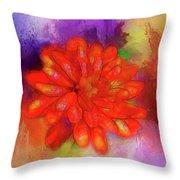 Fireflower Throw Pillow