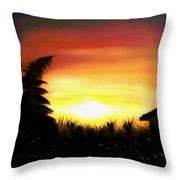 Firefly Frenzy Dreamy Mirage Throw Pillow