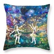 Firefly Frolic Throw Pillow