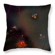 Firefly Me To The Moon Throw Pillow by Bernie  Lee