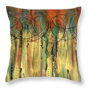 Firefly's Dance Throw Pillow