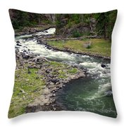 Firehole River 2 Throw Pillow