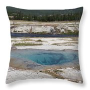Firehole River And Pool Throw Pillow