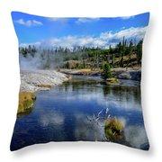 Firehole River Yellowstone Throw Pillow