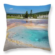 Firehole Spring Geyser Throw Pillow