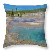 Firehole Spring Throw Pillow