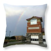 Firehouse Ranibow Throw Pillow