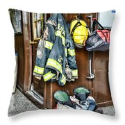 Fireman - Always Ready Throw Pillow