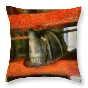 Fireman - Chief Hat Throw Pillow by Mike Savad