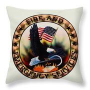 Fireman - Fire And Emergency Services Seal Throw Pillow