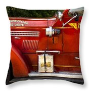 Fireman - Garwood Fire Dept Throw Pillow by Mike Savad