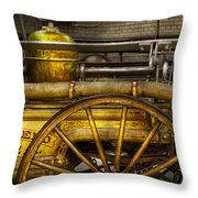 Fireman - Piano Engine - 1855  Throw Pillow by Mike Savad