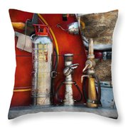 Fireman - An Assortment Of Nozzles Throw Pillow